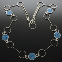 "Sterling Silver ""Bubble"" necklace"