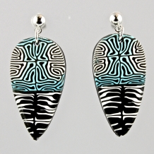 Polymer Cane Earrings